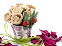 Flores de Handemade e potpurri cor-de-rosa Fotografia de Stock
