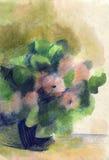 Flores de la acuarela Fotos de archivo