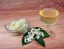 Flores de la baya del saúco de la bebida Fotografía de archivo