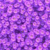 Flores de la belleza que dispersan en el ejemplo de la pared 3D Fotos de archivo