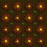 Flores de la caída en tweed fotos de archivo libres de regalías
