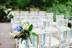 Flores de la ceremonia de boda Fotografía de archivo libre de regalías