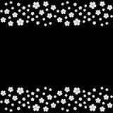 Flores de la cereza de la primavera aisladas en el negro encariñado stock de ilustración