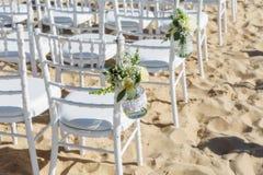 Flores de la decoración para una ceremonia de boda Imagen de archivo libre de regalías