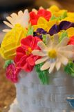 Flores de la formación de hielo Imágenes de archivo libres de regalías