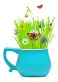 Flores de la hierba y del resorte foto de archivo