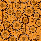 Flores de la manzanilla del modelo inconsútil stock de ilustración