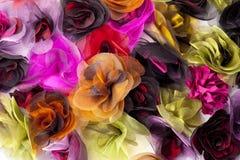 Flores de la materia textil Fotografía de archivo