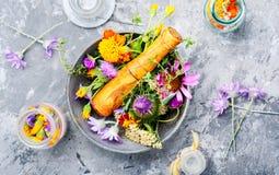 Flores de la medicina de las hierbas Fotografía de archivo libre de regalías