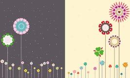 Flores de la noche y del día. Imágenes de archivo libres de regalías