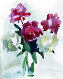 Flores de la pintura ilustración del vector