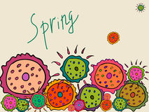 Flores de la primavera en un fondo beige Fotografía de archivo libre de regalías