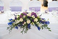 Flores de la tabla de la boda Imagenes de archivo