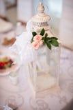 Flores de la tabla de la boda Fotografía de archivo