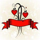 Flores de la tarjeta del día de San Valentín Fotos de archivo libres de regalías