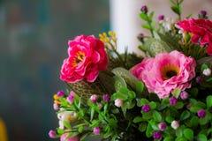 Flores de la tela Fotografía de archivo