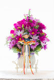 Flores de la tela Imagen de archivo libre de regalías