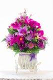Flores de la tela Foto de archivo