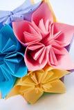 Flores de la unidad de Origami Fotografía de archivo