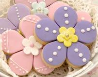 Flores de las galletas Imagenes de archivo