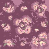 Flores de las peonías stock de ilustración