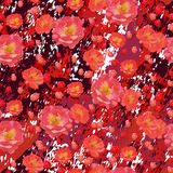 Flores de las rosas del escarlata en fondo texturizado del mármol de Borgoña libre illustration
