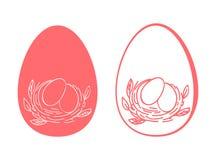 Flores de los huevos de Pascua stock de ilustración