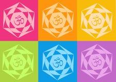 Flores de los yantras de la yoga Imagen de archivo libre de regalías