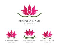 Flores de Lotus do vetor da beleza ilustração stock