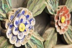 Flores de madeira Foto de Stock