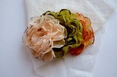 Flores de matéria têxtil Imagem de Stock