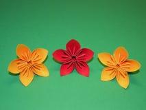 Flores de Origami Imagen de archivo