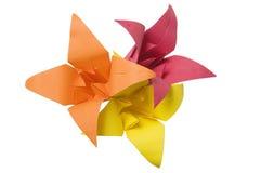 Flores de Origami imagens de stock
