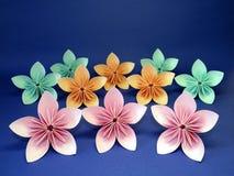 Flores de Origami Imagen de archivo libre de regalías
