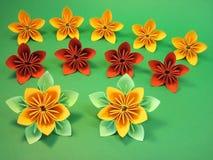Flores de Origami Fotografía de archivo libre de regalías