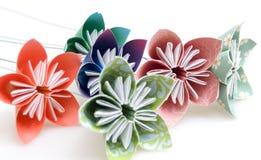Flores de Origami Fotos de Stock