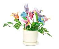 Flores de Origami Foto de archivo libre de regalías