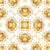 Flores de oro en el fondo blanco Fotos de archivo
