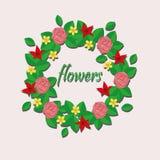 Flores de papel ilustração do vetor