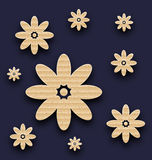 Flores de papel abstratas fundo, textura da caixa ilustração stock