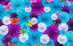 Flores de papel artificiales Imagen de archivo libre de regalías