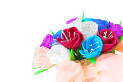 Flores de papel bonitas na cesta Foto de Stock Royalty Free