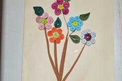 Flores de papel coloridas Foto de archivo