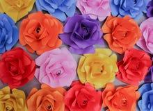 Flores de papel coloridas de Texter Fotografía de archivo libre de regalías