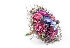 Flores de papel coloridas - ramo de la novia Imagenes de archivo