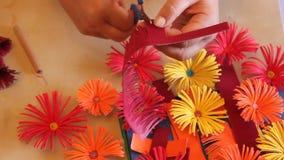 Flores de papel feitos a mão Fotografia de Stock