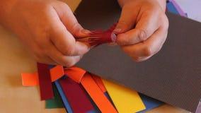 Flores de papel hechas a mano quilling Fotografía de archivo libre de regalías