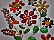 Flores de pedra fotografia de stock