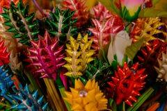 Flores de seda da fita e da orquídea Foto de Stock