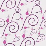 Flores de Swirly Ilustração Royalty Free
